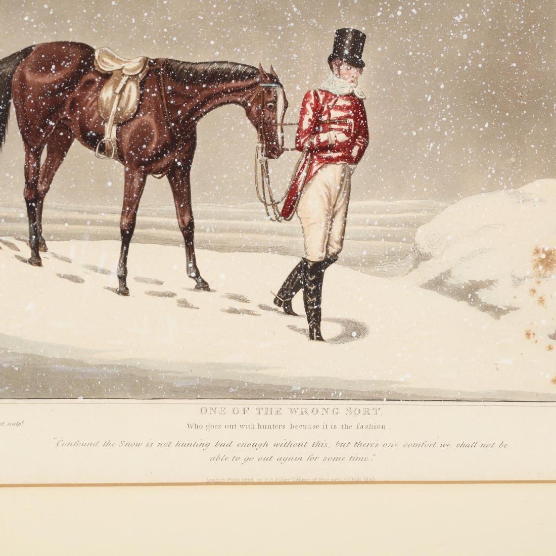 after Henry Alken (British, 1785-1851), Pair of Snowy - 3