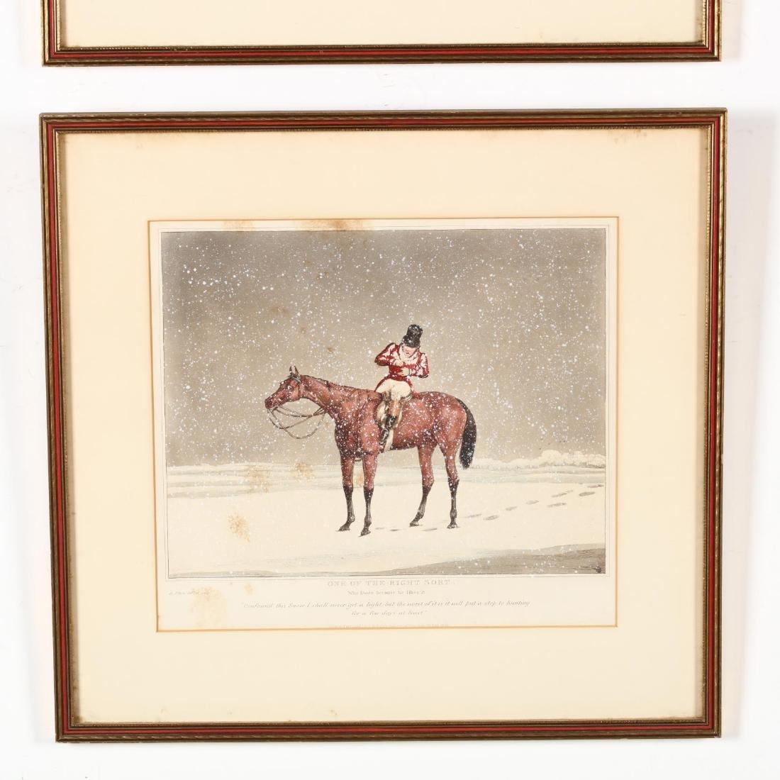 after Henry Alken (British, 1785-1851), Pair of Snowy - 4