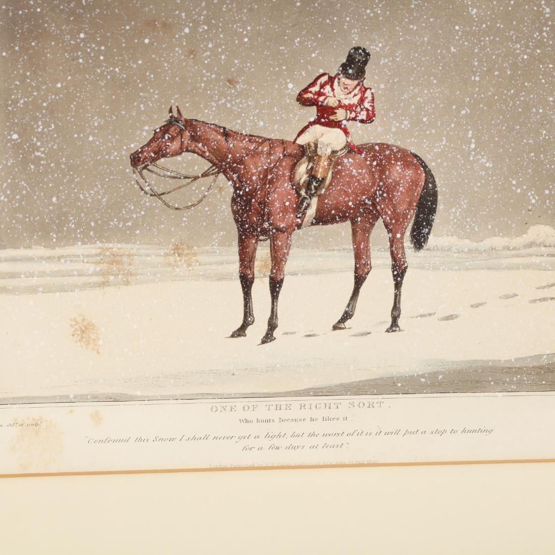 after Henry Alken (British, 1785-1851), Pair of Snowy - 5