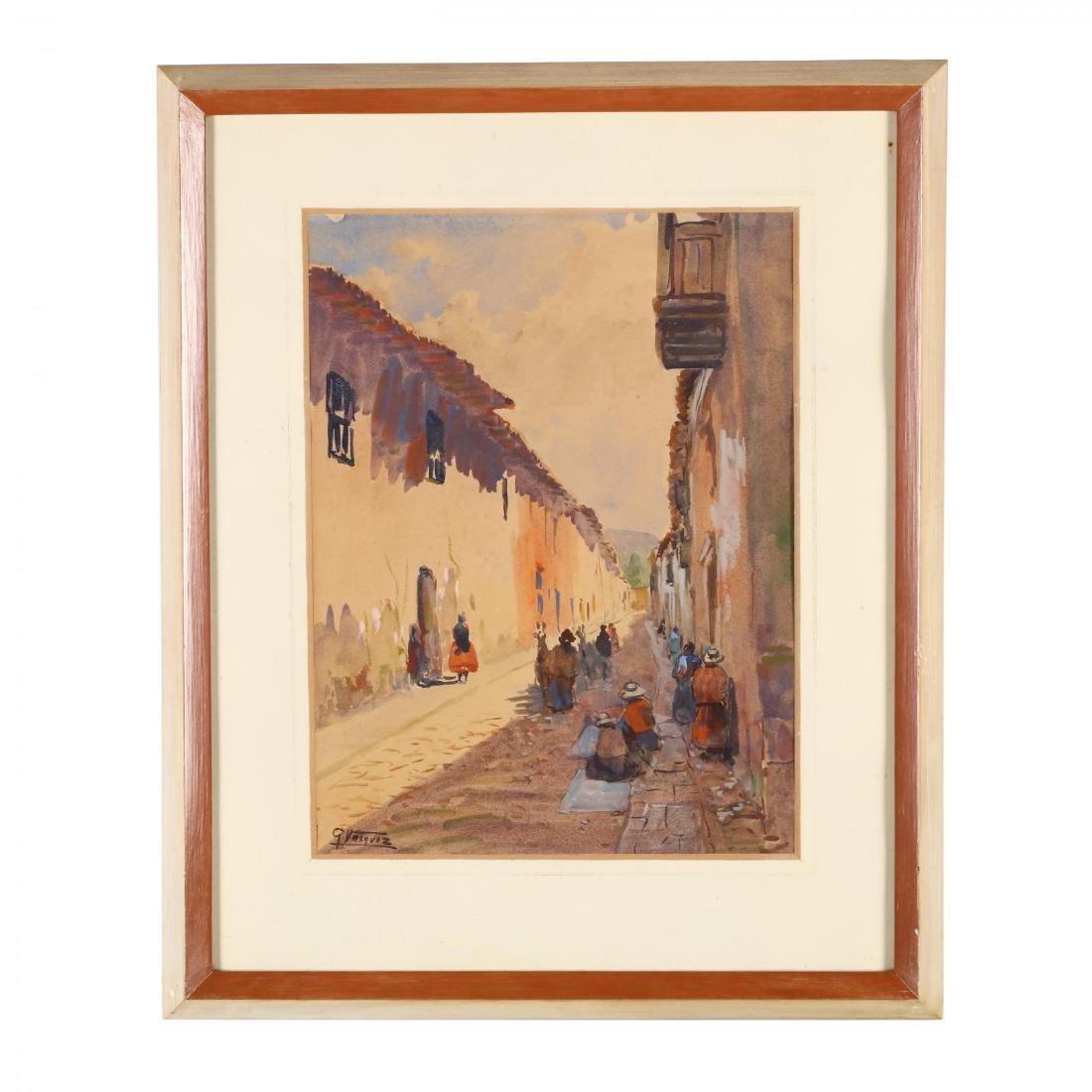 G. Vasquez (20th century), Three Watercolors - 2