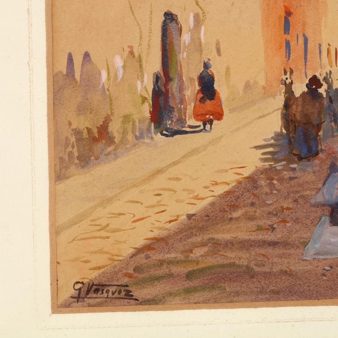 G. Vasquez (20th century), Three Watercolors - 3