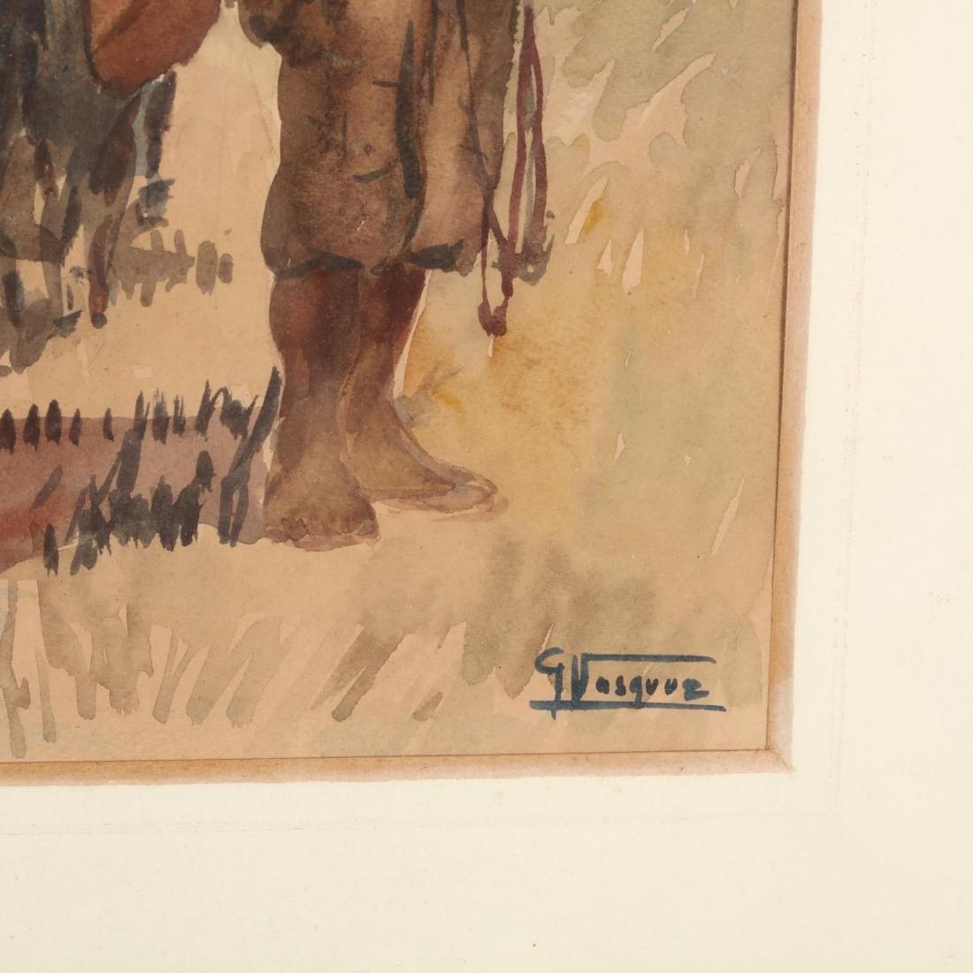 G. Vasquez (20th century), Three Watercolors - 5