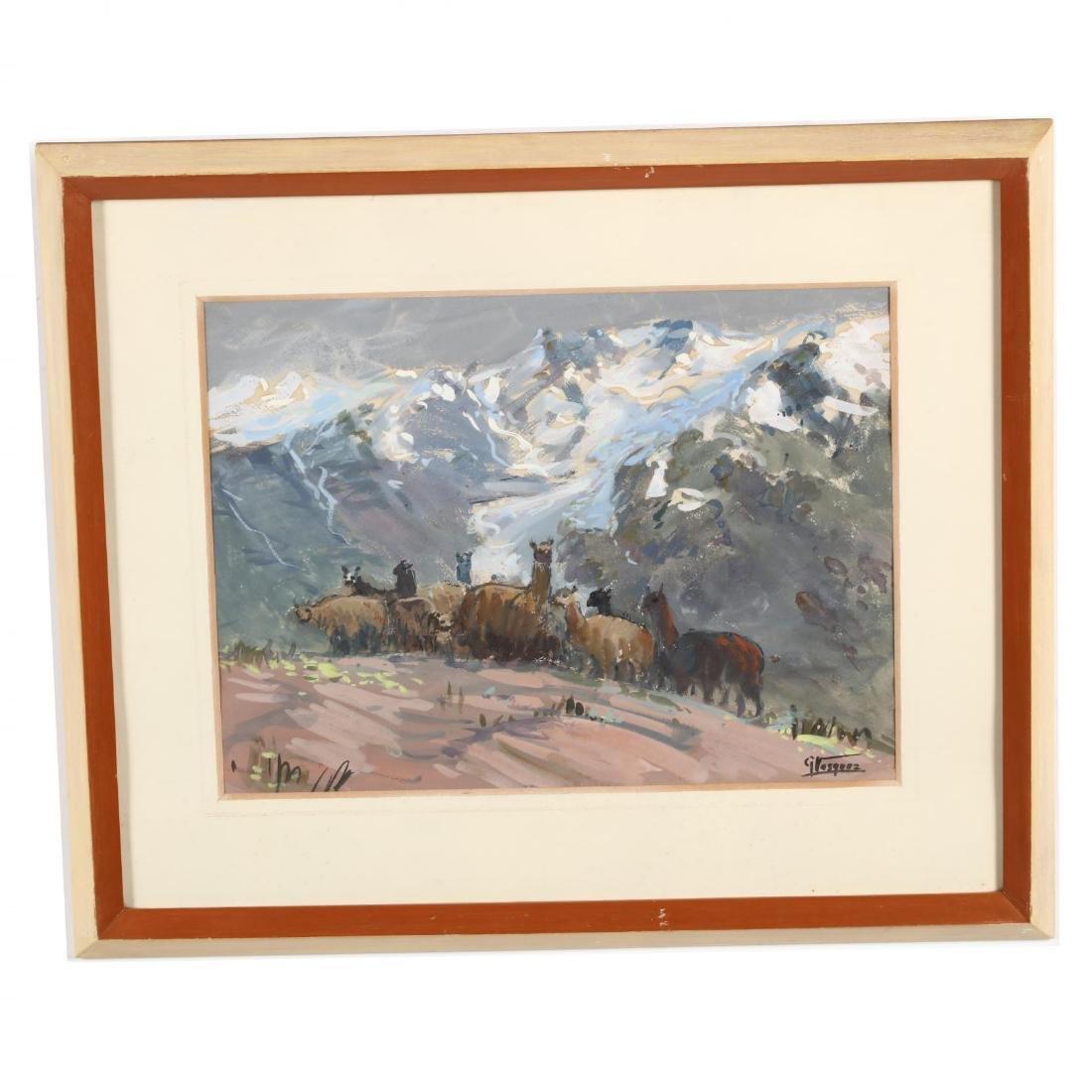 G. Vasquez (20th century), Three Watercolors - 6