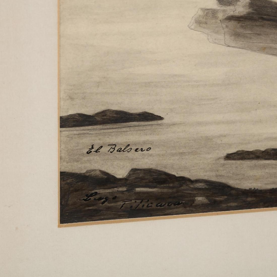 E. Dreyer (20th century),  El Balsero, Lago Ticicaca - 3