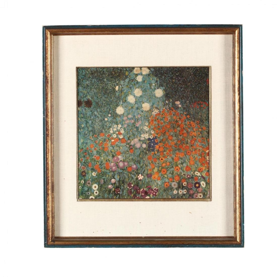 Framed Print after Gustave Klimt's  Bauerngarten