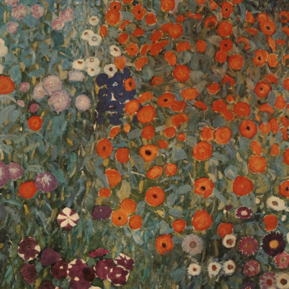 Framed Print after Gustave Klimt's  Bauerngarten - 2