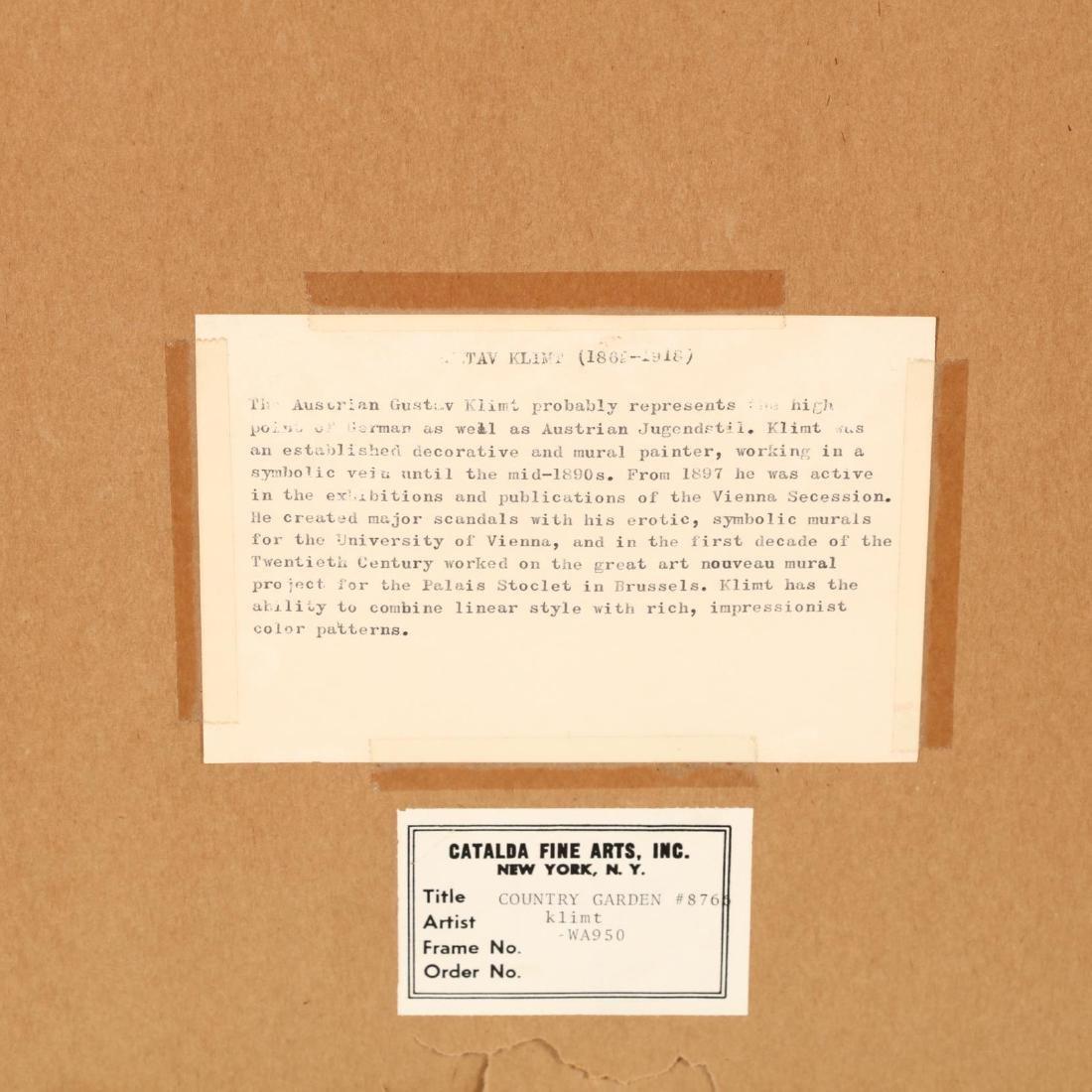 Framed Print after Gustave Klimt's  Bauerngarten - 4