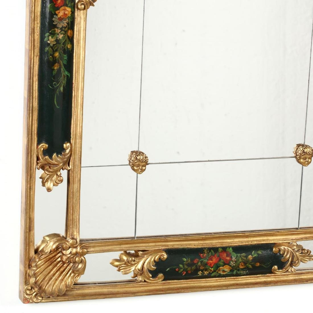 A Designer Baroque Style Scenic Painted Mirror - 3