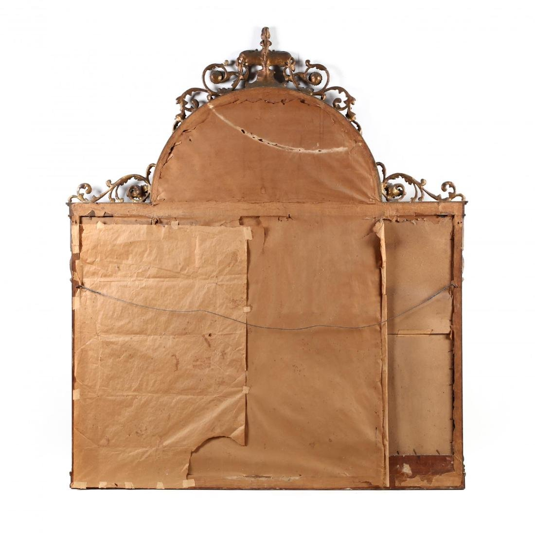 A Large Adam's Style Tri-Panel Over Mantle Mirror - 5