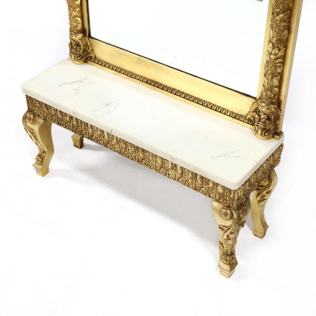 Italianate Carved and Gilt Pier Mirror with Table - 3