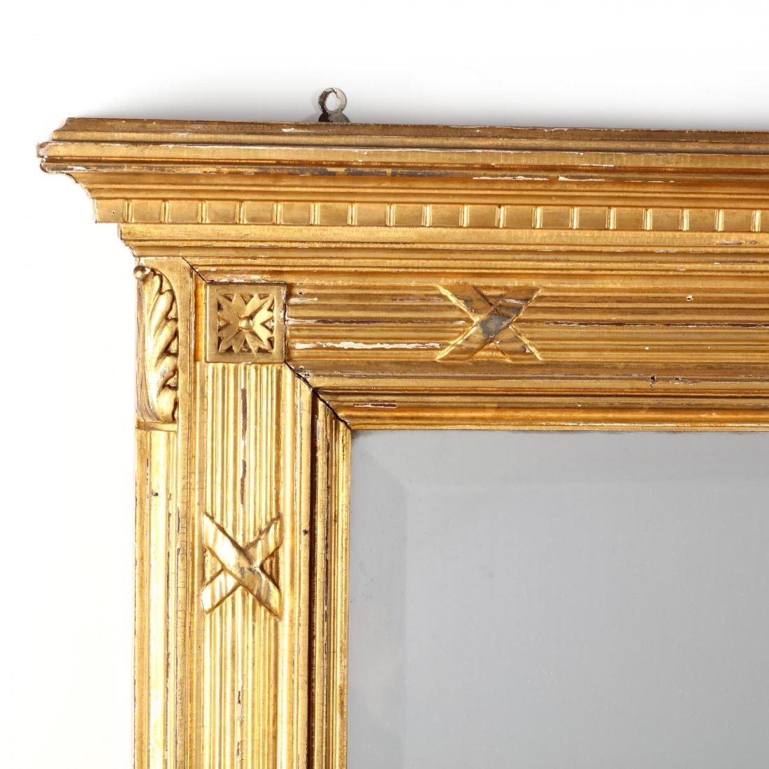 Large Late Classical Carved and Gilt Over Mantel Mirror - 2