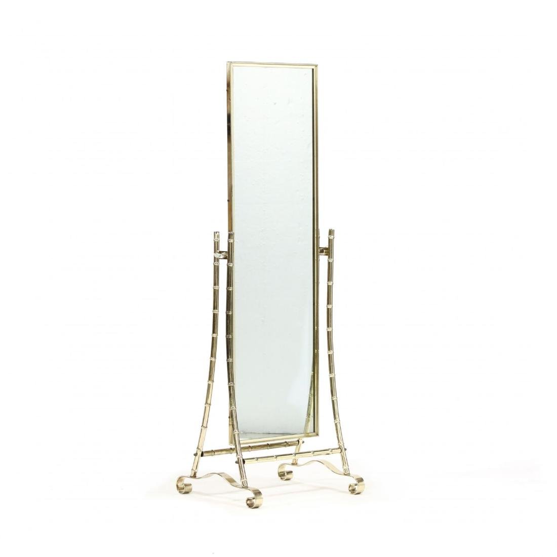 Hollywood Regency Style Cheval Mirror