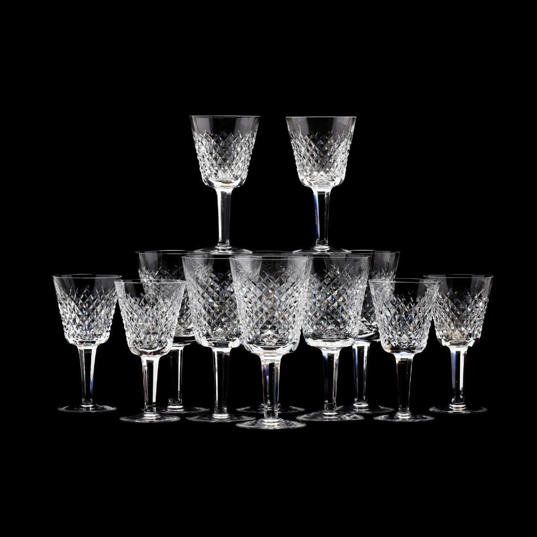 Set of Twelve Waterford Crystal Stems