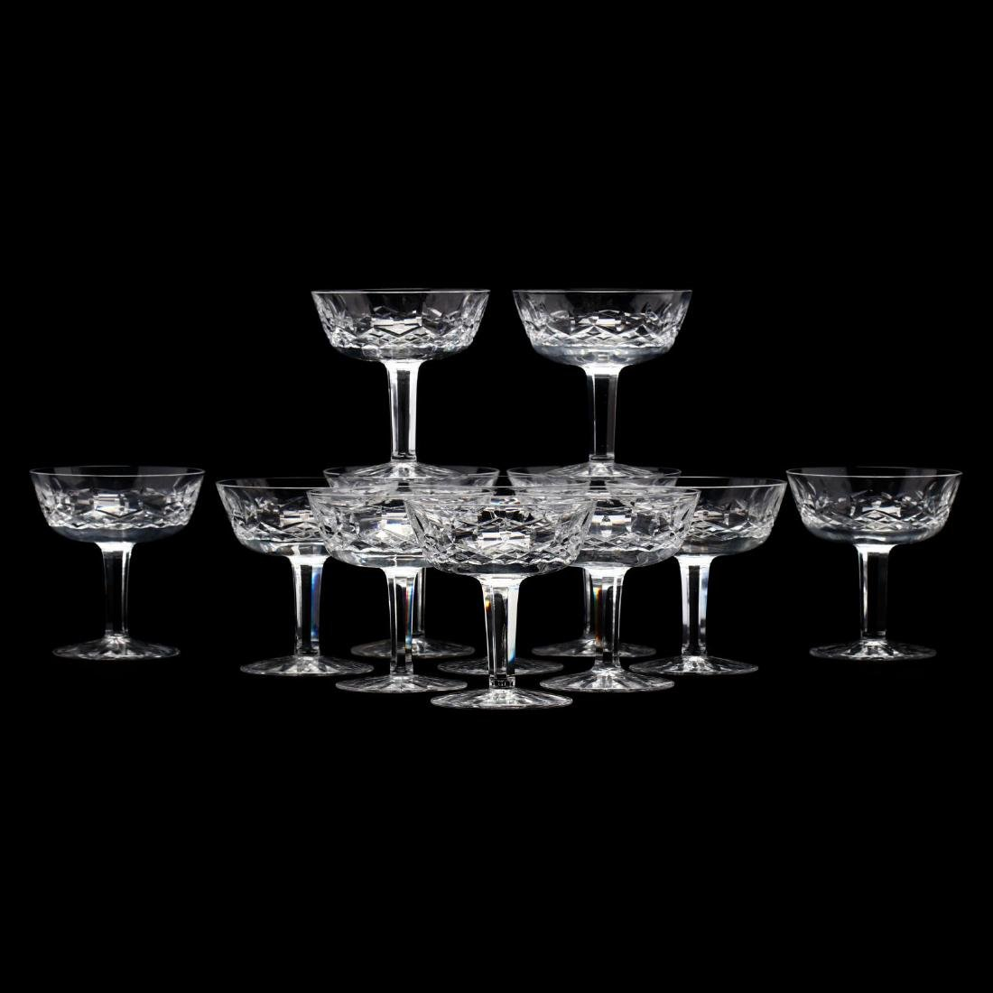 Set of Twelve Waterford  Lismore  Sherbets