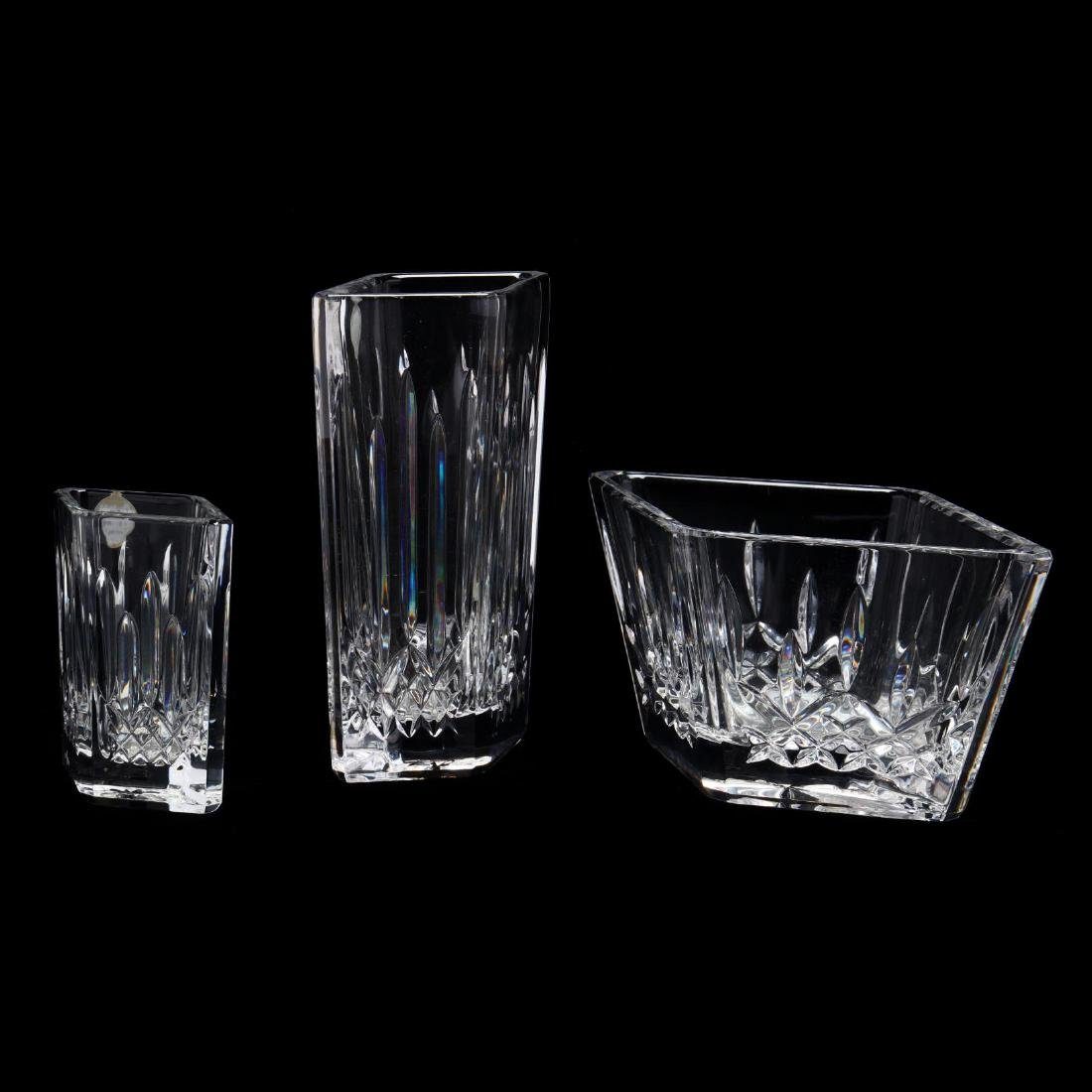 """Four Waterford """"Lismore"""" Crystal Table and Desk - 2"""
