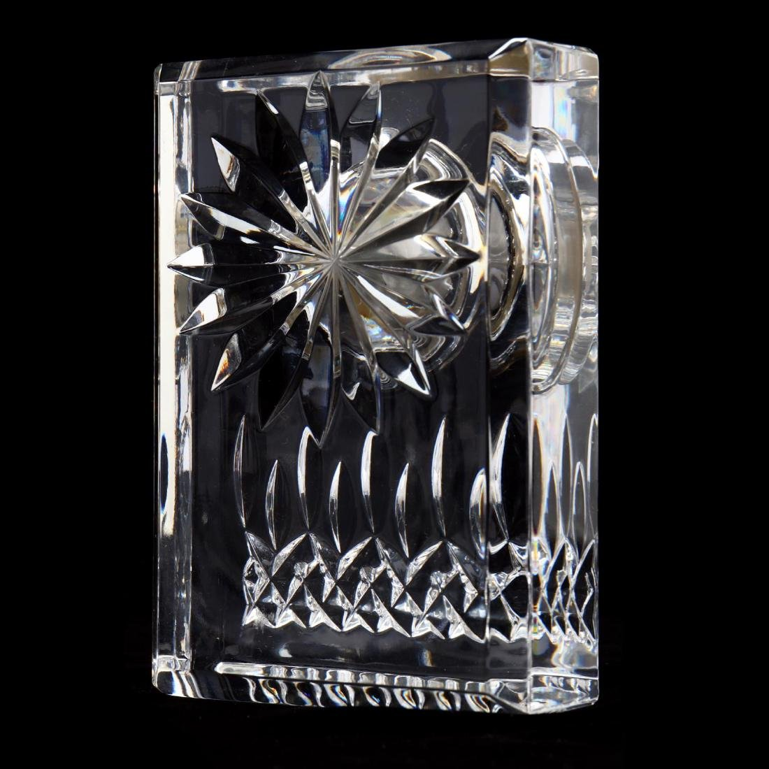 """Four Waterford """"Lismore"""" Crystal Table and Desk - 7"""