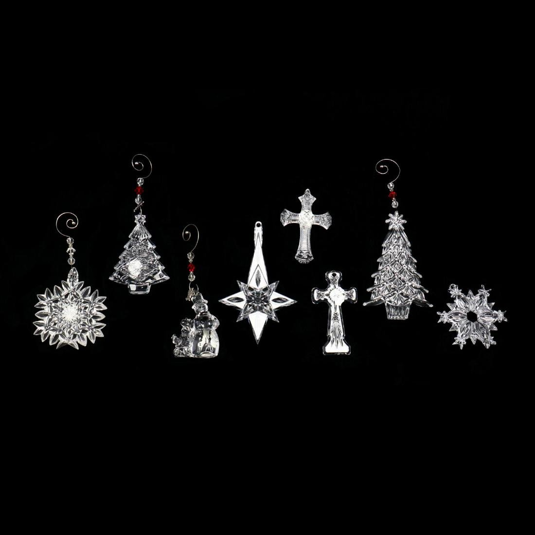 A Collection of Eight Waterford Crystal Christmas