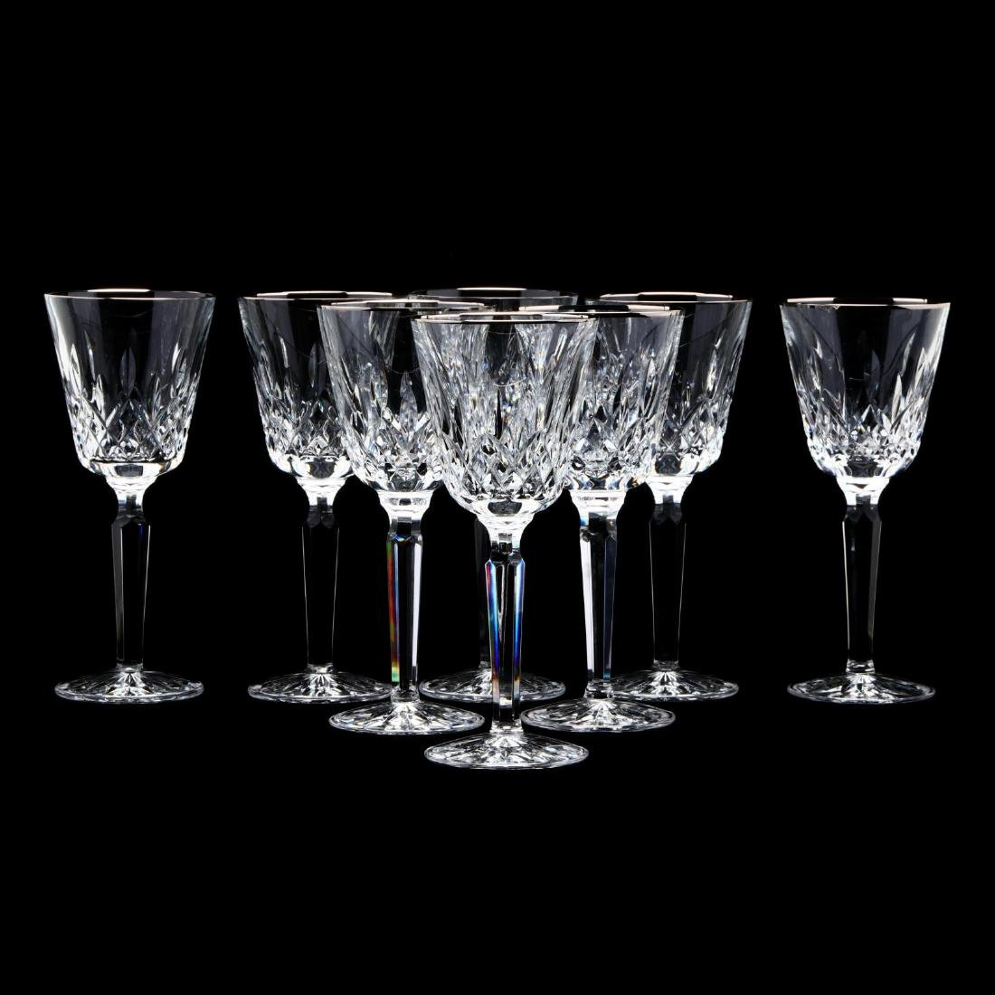 """A Set of Eight Waterford """"Platinum Lismore Tall"""" Wine"""