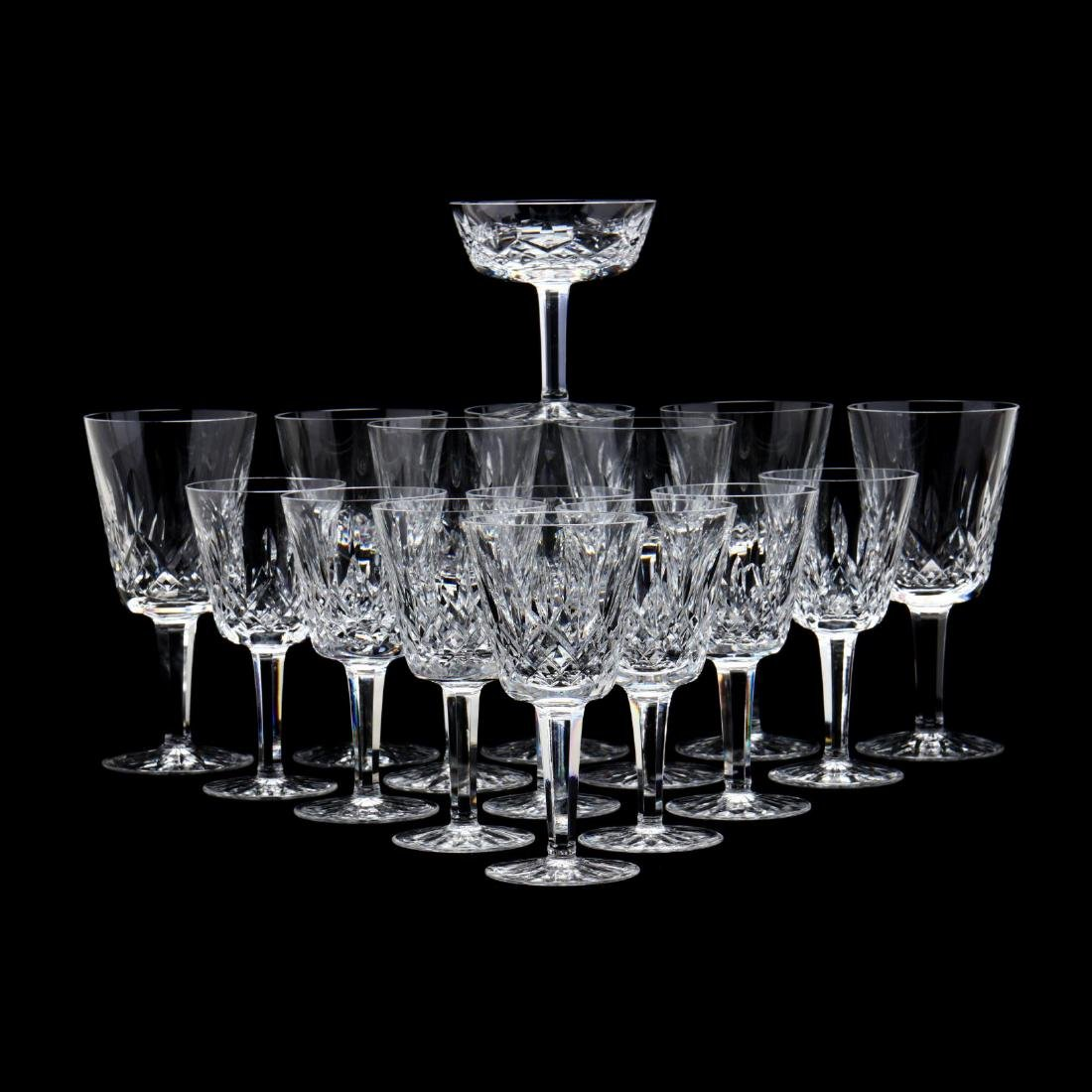 Waterford, (16) Pieces of  Lismore  Pattern Stemware