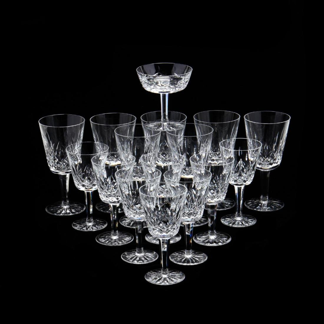 Waterford, (16) Pieces of  Lismore  Pattern Stemware - 2