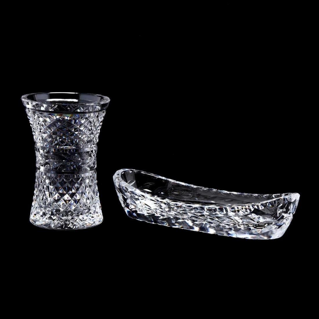 Two Waterford Crystal Table Accessories