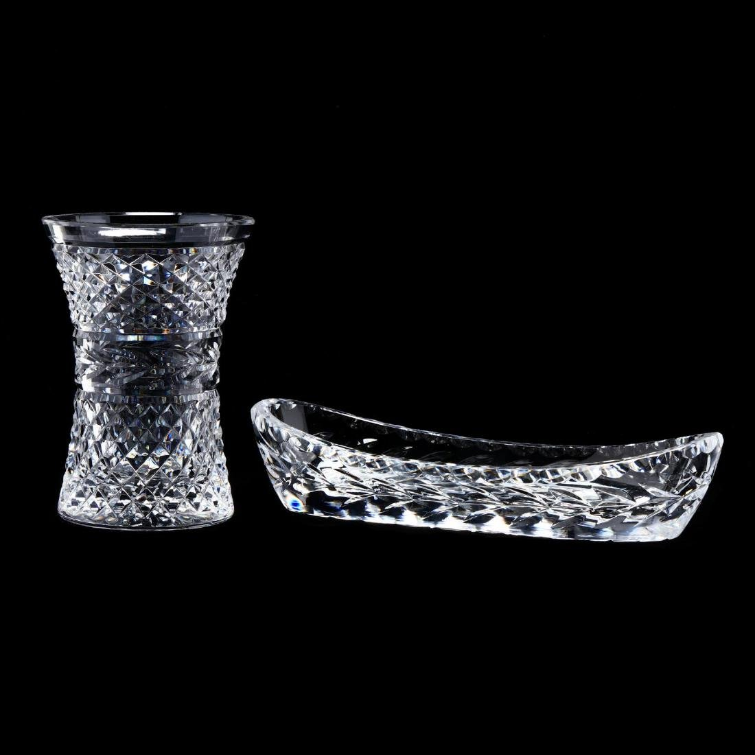 Two Waterford Crystal Table Accessories - 2