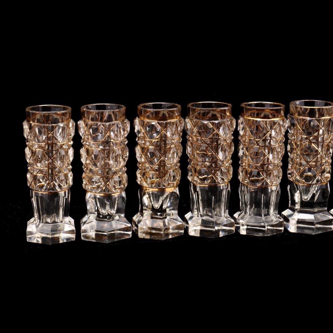 A Set of Ten Russian Gilt & Cut Crystal Vodka Glasses - 2