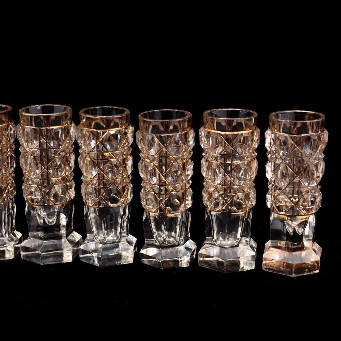 A Set of Ten Russian Gilt & Cut Crystal Vodka Glasses - 3