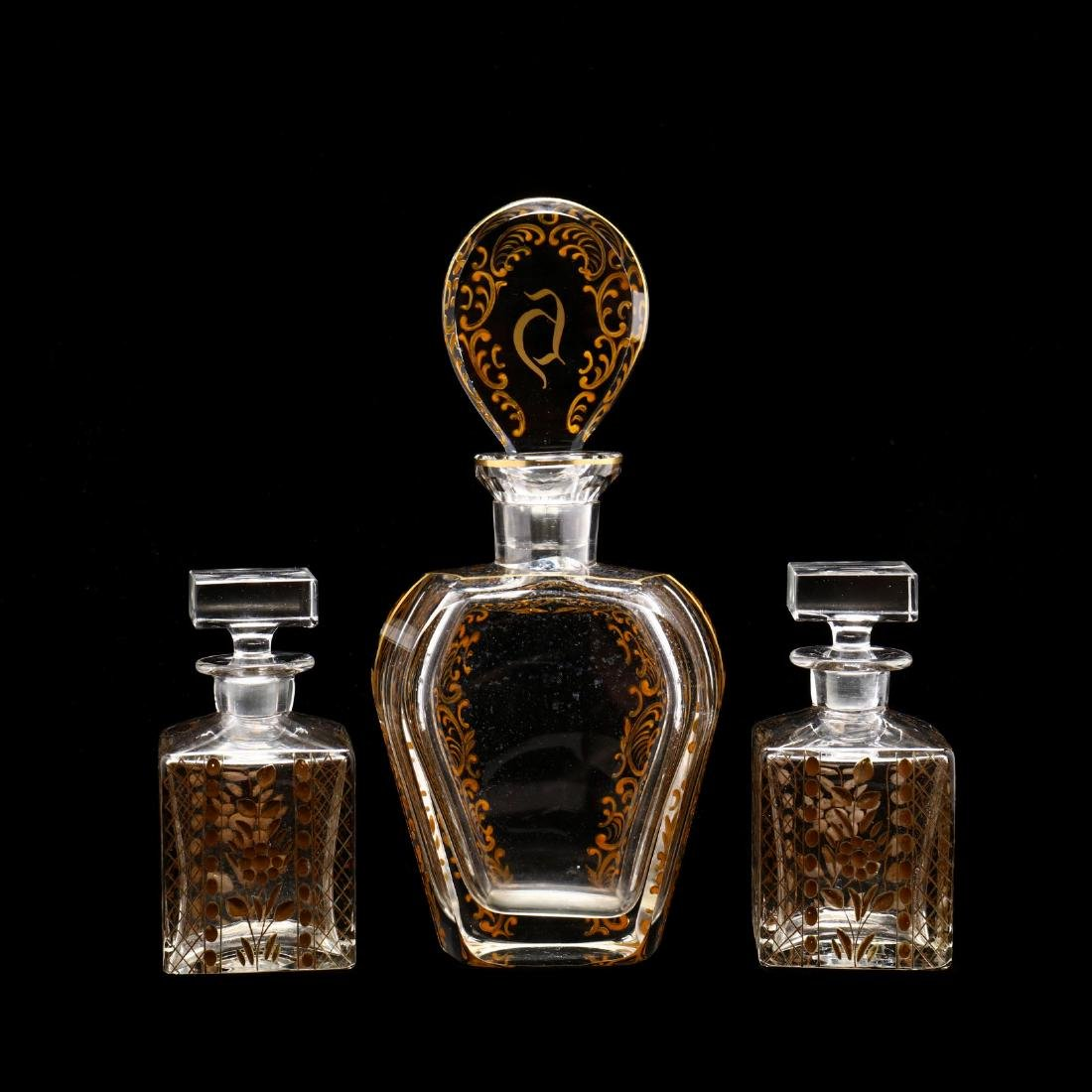 Three Large Antique Scent Bottles - 2