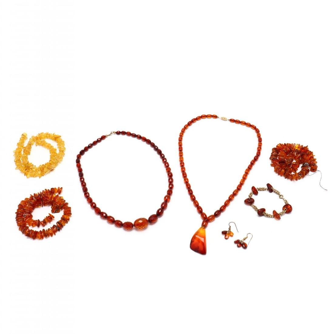 Group of Amber Bead Jewelry