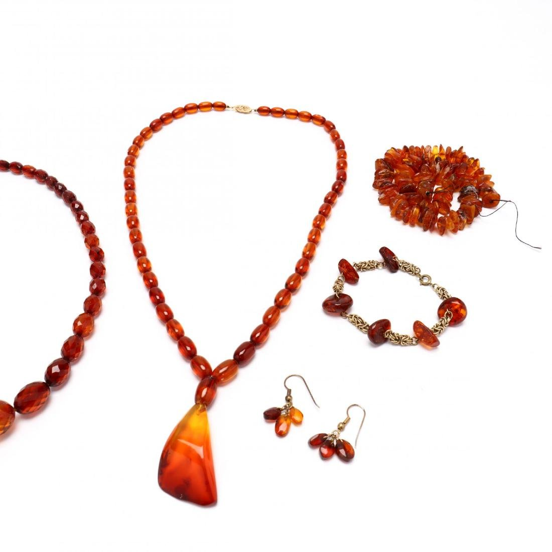 Group of Amber Bead Jewelry - 2