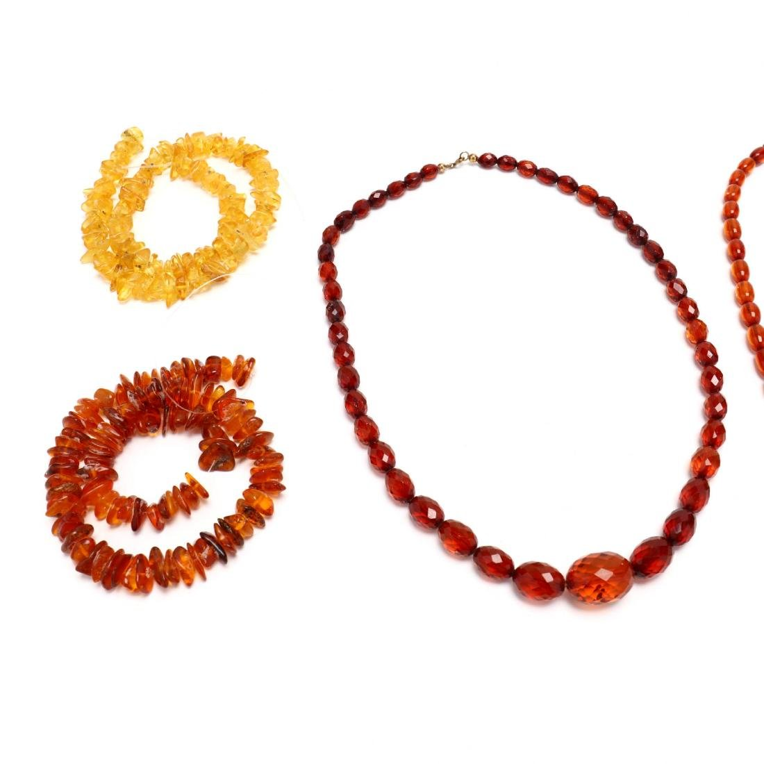 Group of Amber Bead Jewelry - 3