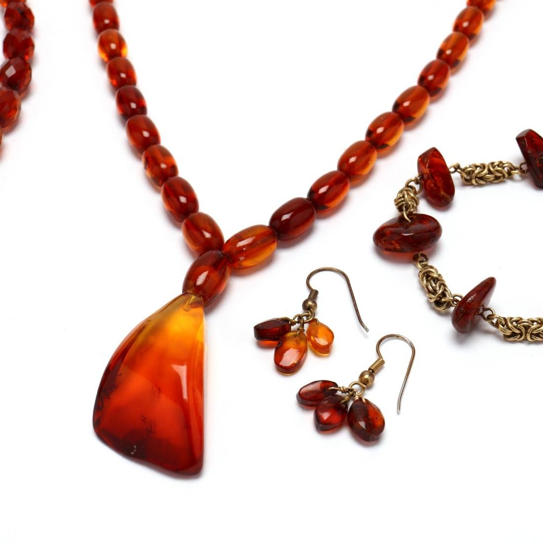Group of Amber Bead Jewelry - 4