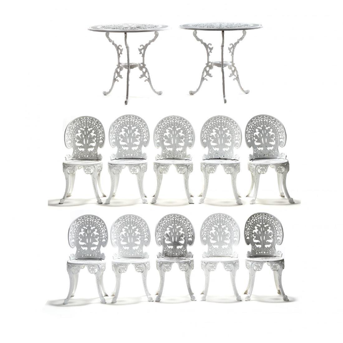 Twelve Piece Classical Style Cast Aluminum Garden Set