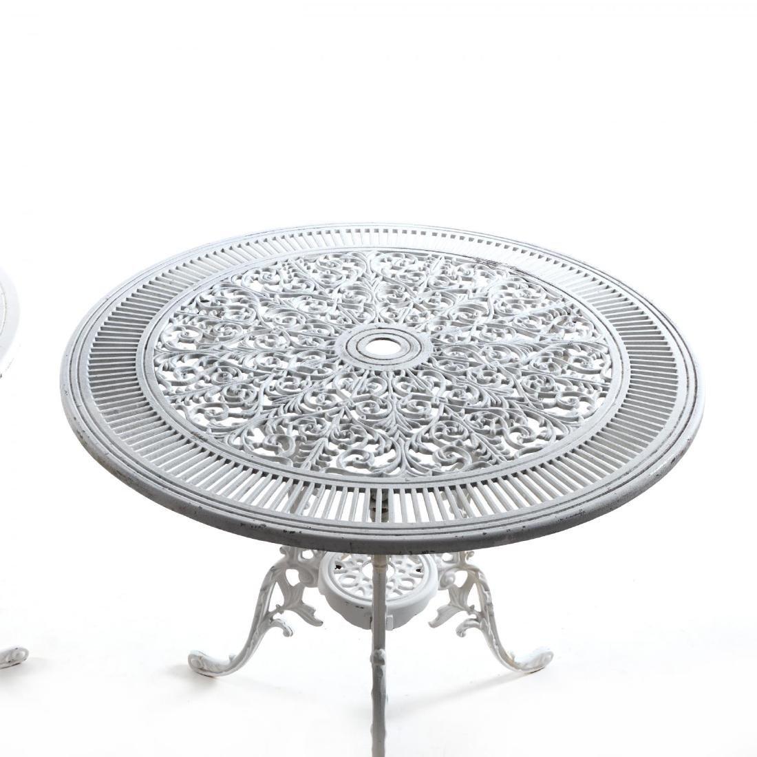 Twelve Piece Classical Style Cast Aluminum Garden Set - 7