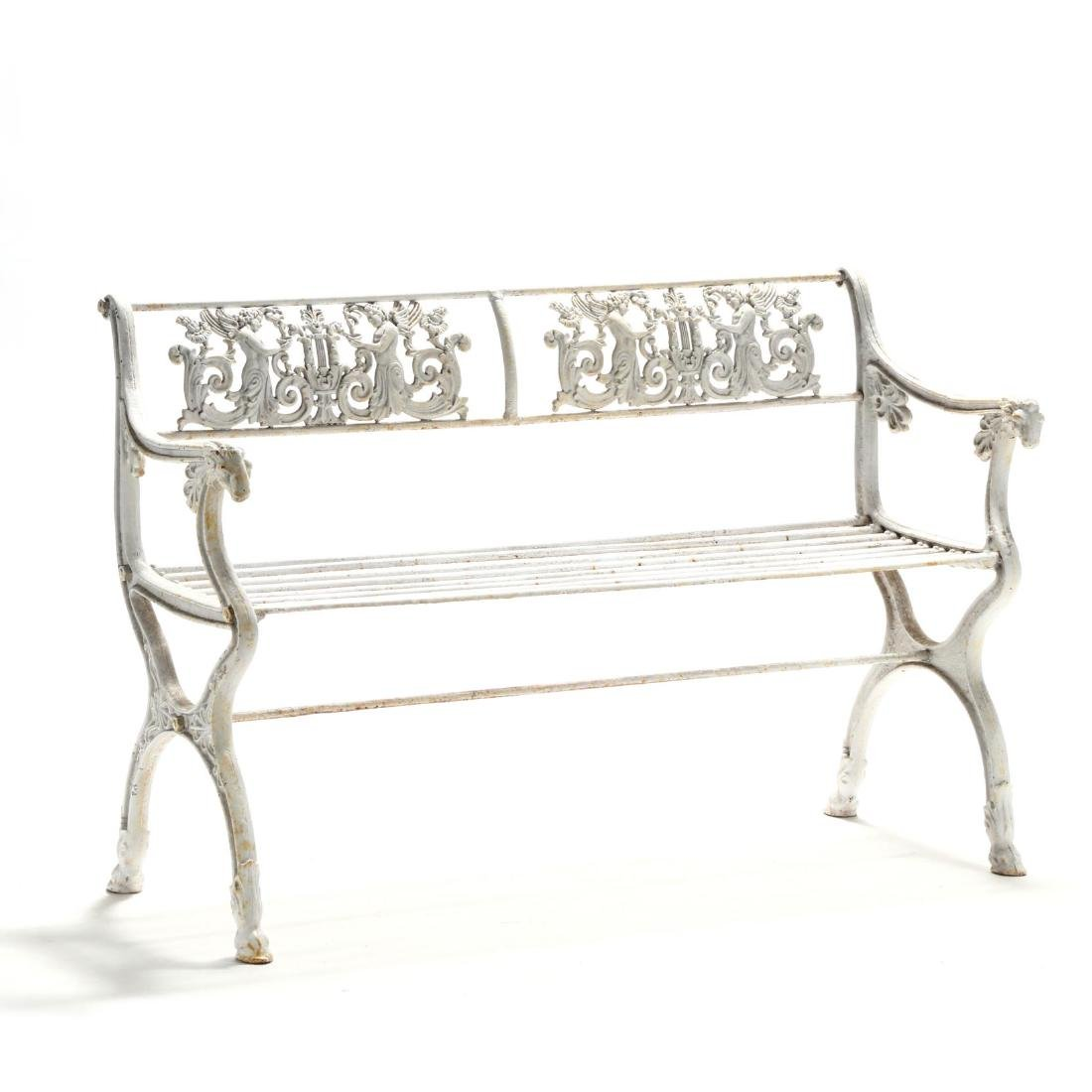Neoclassical Style Cast Iron Garden Bench