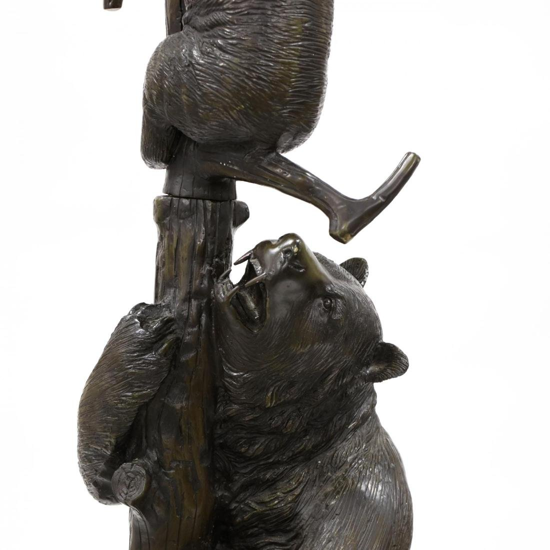 Black Forest Style Bronze Bear Form Hall Tree - 4