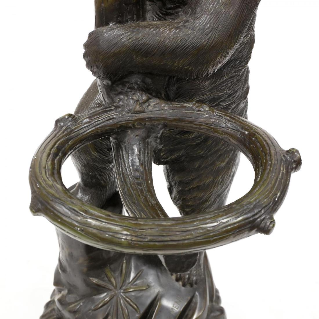 Black Forest Style Bronze Bear Form Hall Tree - 5