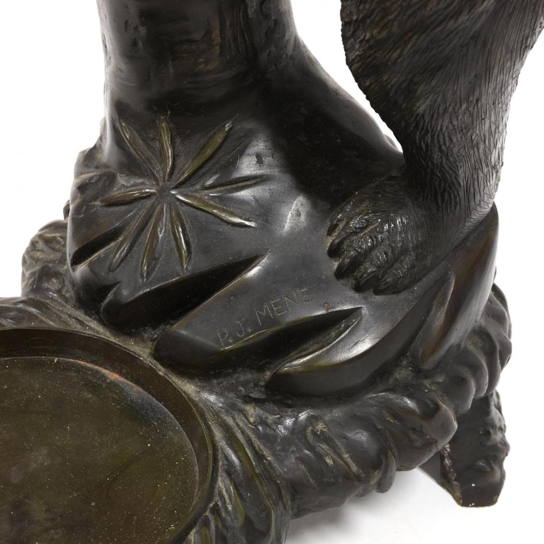 Black Forest Style Bronze Bear Form Hall Tree - 6