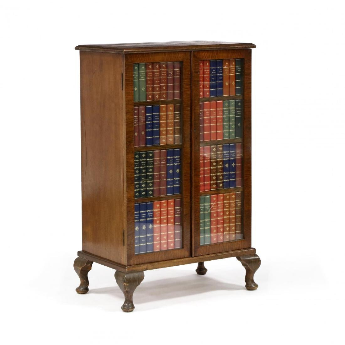 George Betjemann, English Faux Book Bar Cabinet