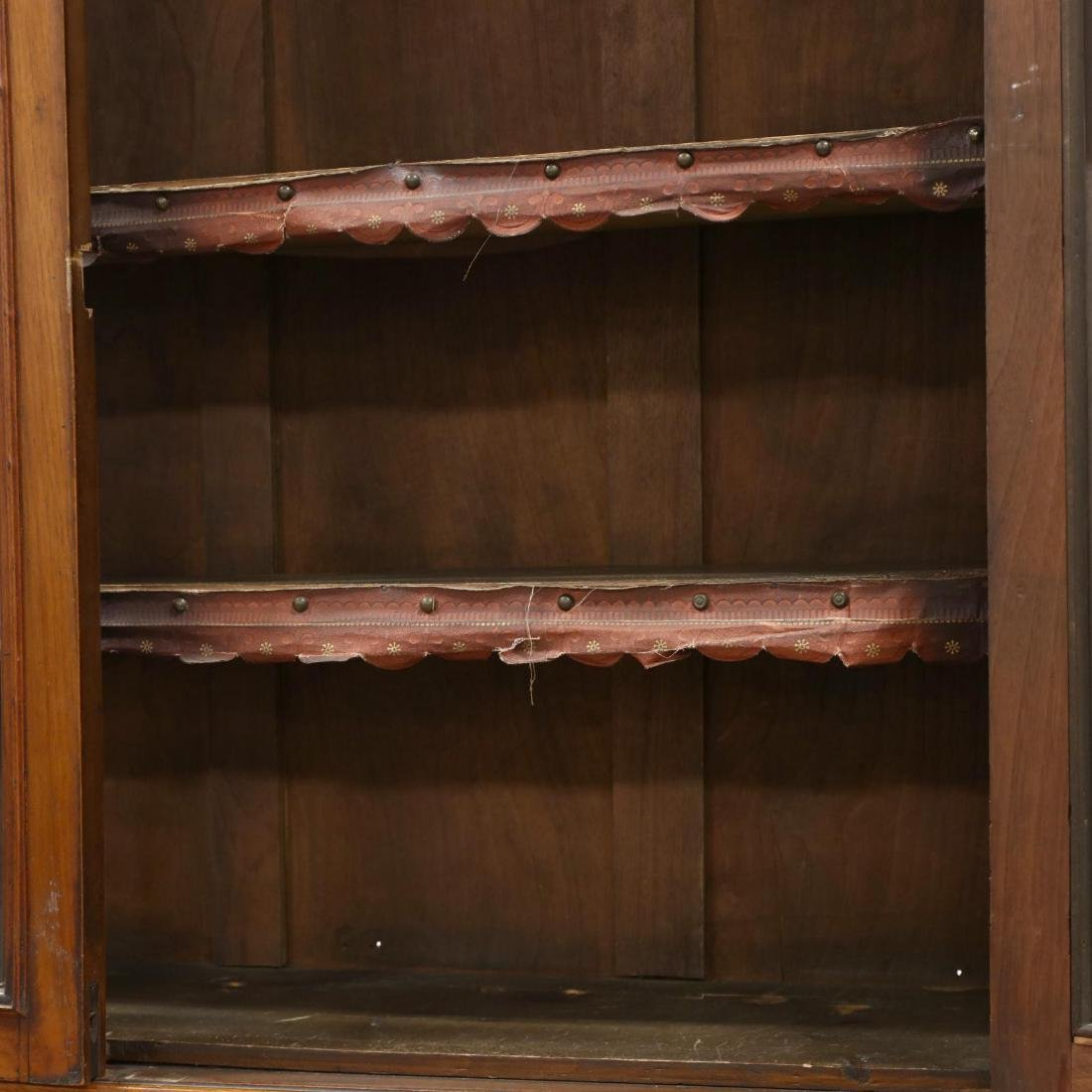 Antique Continental Carved Walnut Butler's Bookcase - 4