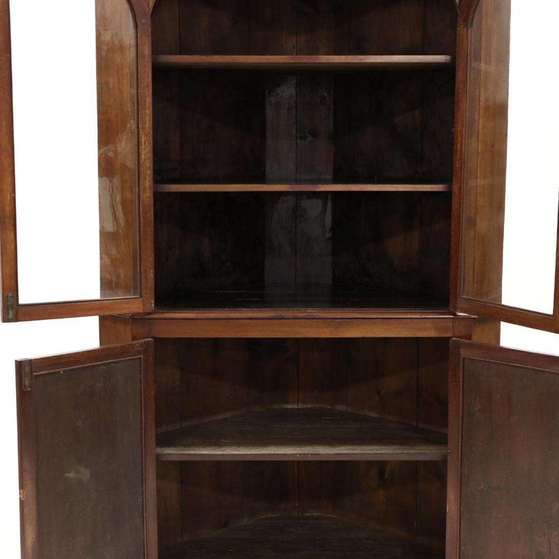 Edwardian Mahogany Corner Cupboard - 2