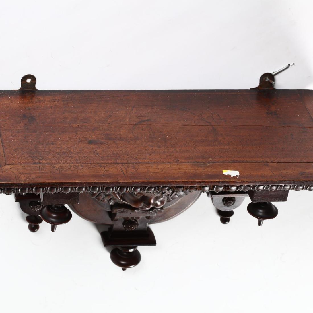 Renaissance Revival Carved Walnut Bracket Shelf - 3