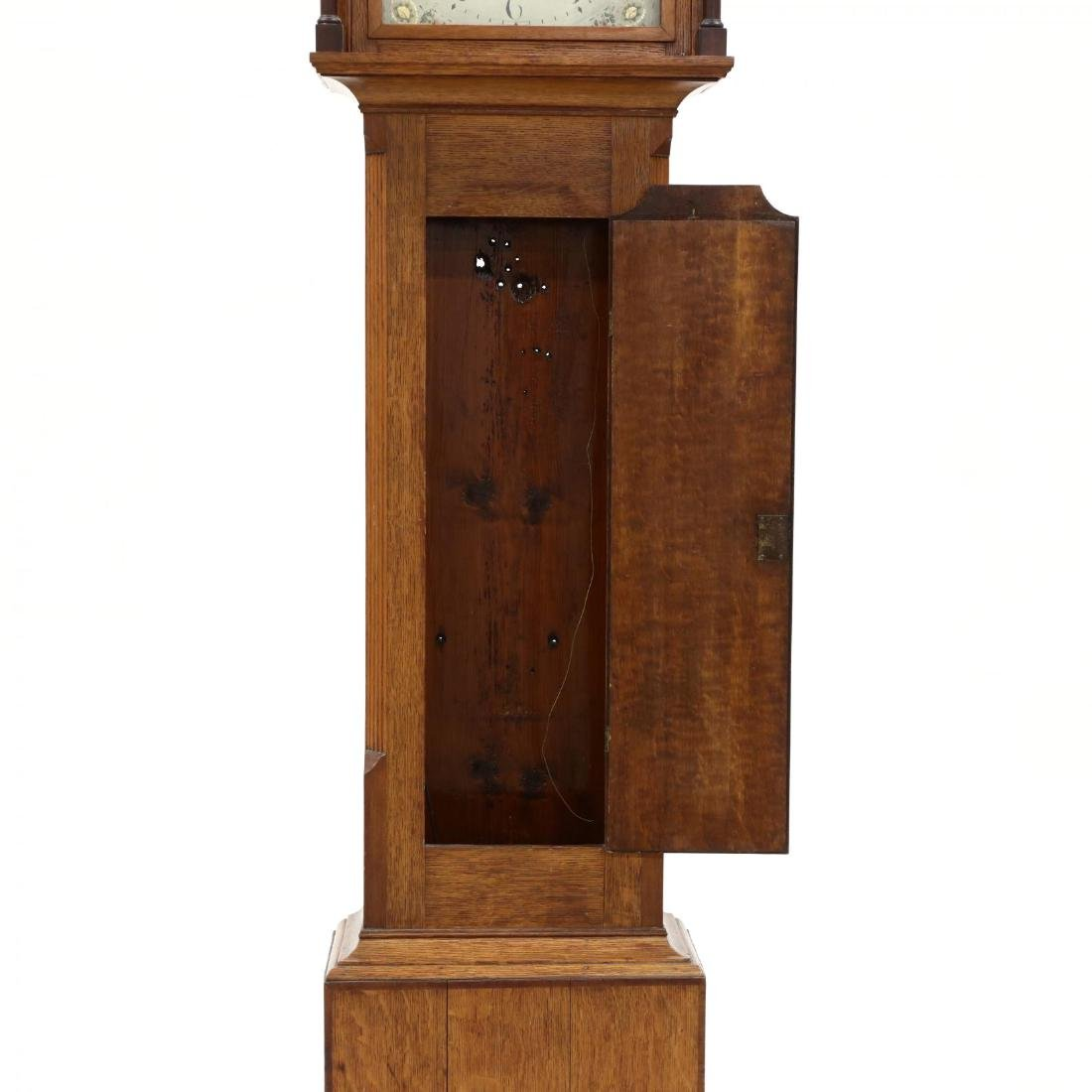 English Inlaid Oak Tall Case Clock, Haynes, Stamford - 4
