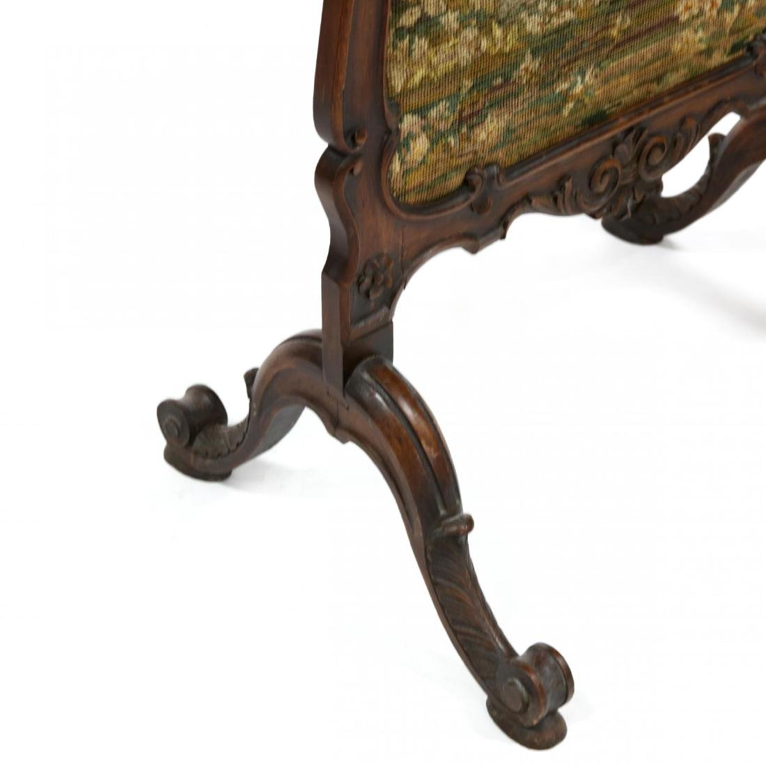 Rococo Revival Carved Walnut Fire Screen - 2