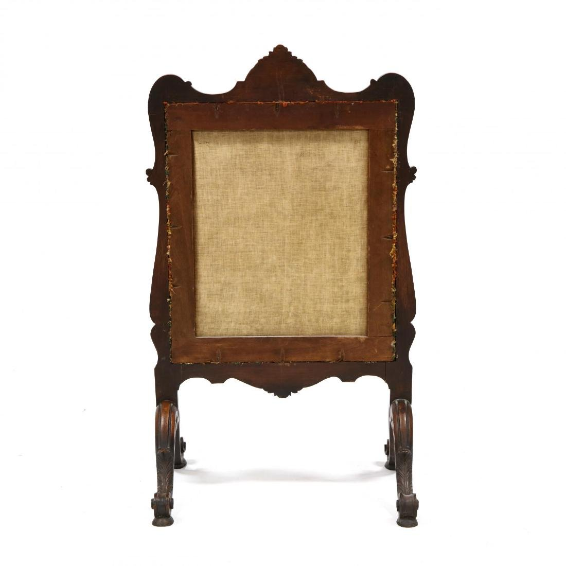 Rococo Revival Carved Walnut Fire Screen - 4