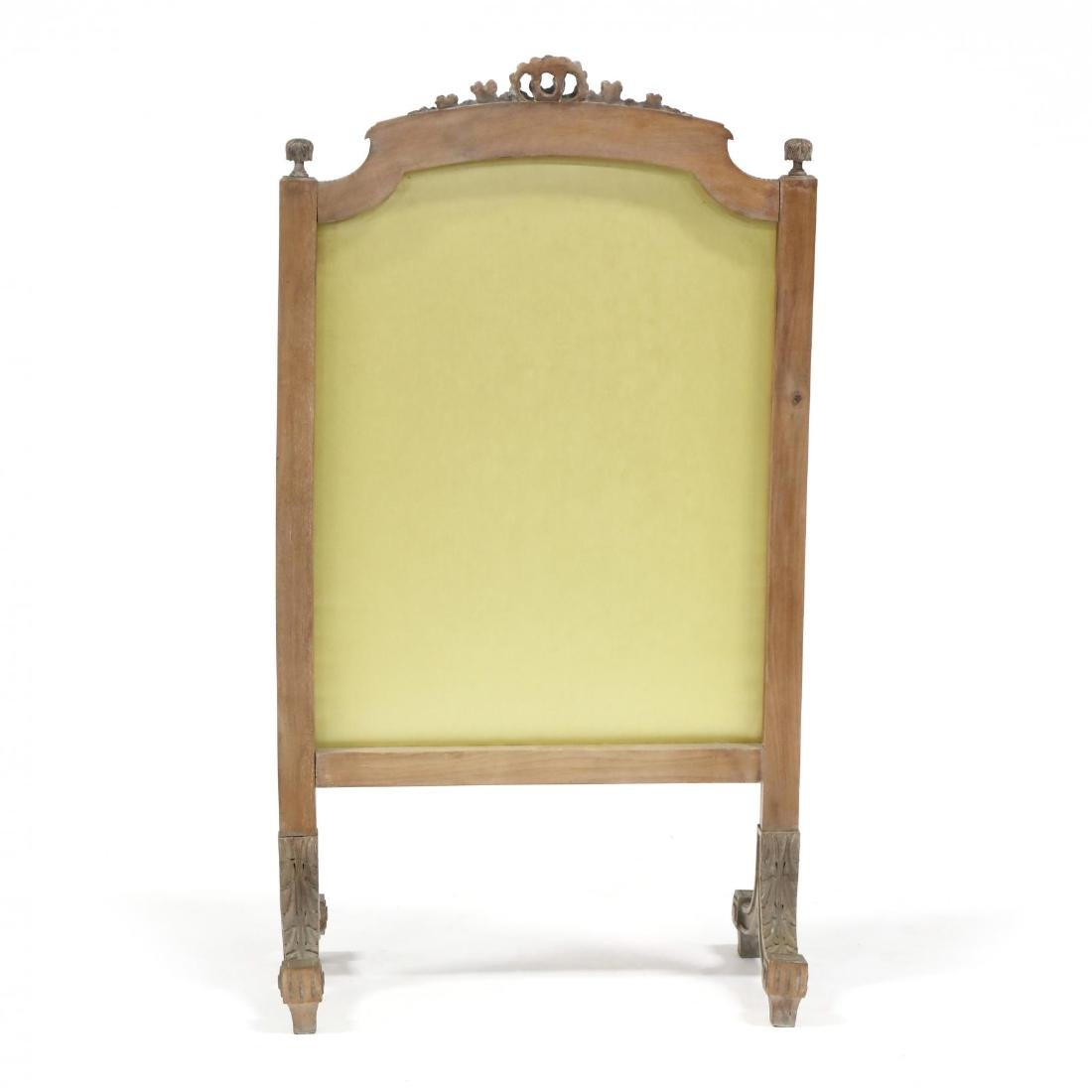 Louis XVI Style Carved Mahogany Fire Screen - 4