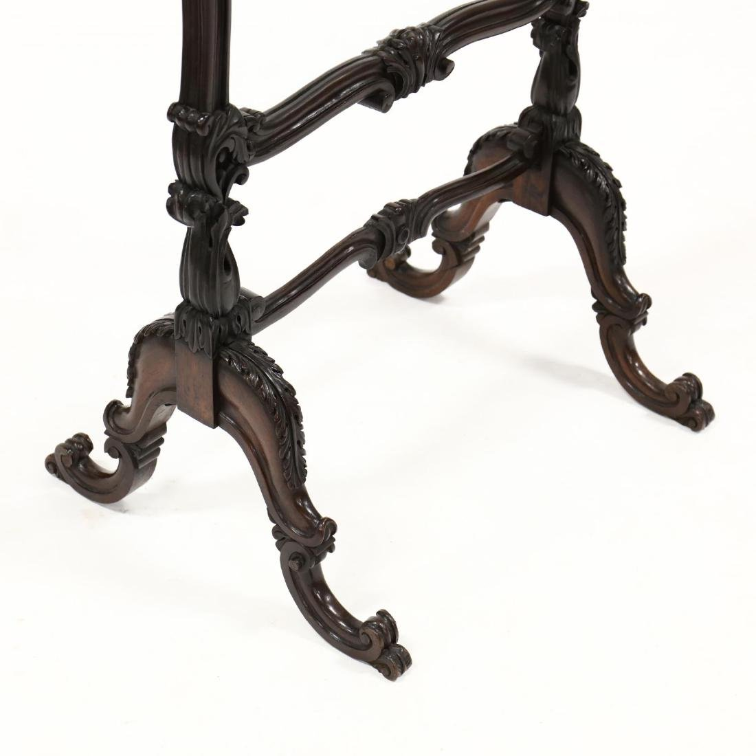 Rococo Revival Carved Rosewood Fire Screen - 2