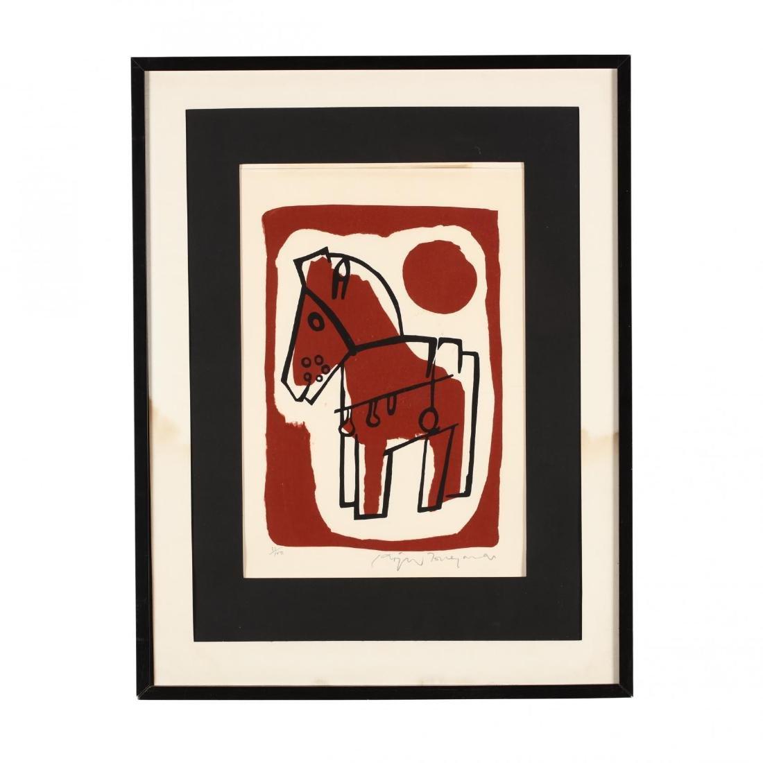 Modernist Print of a Horse