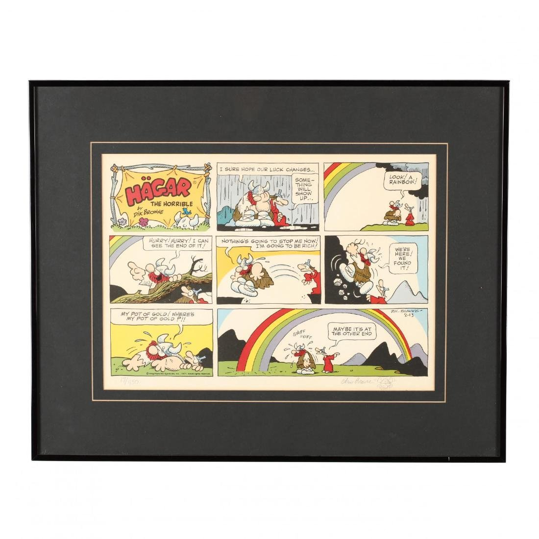 Two Framed and Artist-Signed Comic Lithographs - 2